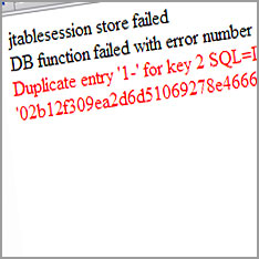 jtablesession-store-failed
